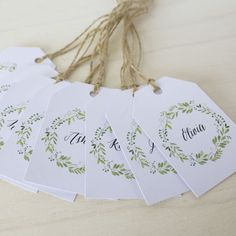 Guest Name Tags / Wedding Guest Tags / Place Card by CouturePress
