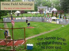 Constructing a Wiffle ball field Backyard Sports, Backyard Baseball, Baseball Park, Baseball Field, Artificial Turf Grass, Wiffle Ball, Field Of Dreams, Backyard Playground, Yard Games