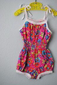 child's sunsuit 1950 - Summer uniform of my childhood