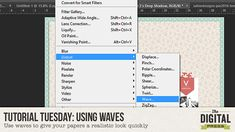 Shadow Tutorial. Use waves to give your papers a realistic look quickly