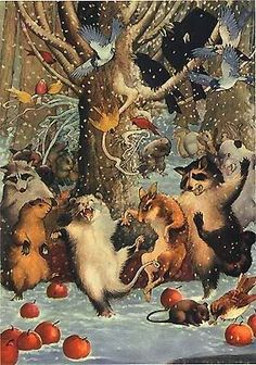 Joyful Winter Feast!!!  I bet there is spiked eggnog involved!