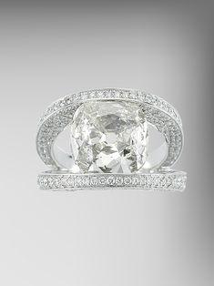 Paolo Costagli Cushion Cut Diamond Ring, Price Upon Request; paolocostagli.com - ELLE.com