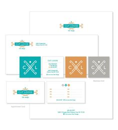 Cut Loose Hair Design: Stationery | Green Couch Design