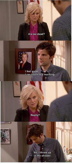 parks and recreation memes | Hangover With Ben & Leslie, Parks and Recreation | Funny Pics, Funny ...