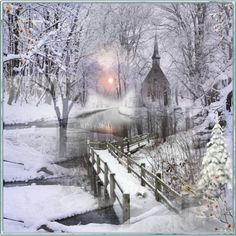Church in the winter woods