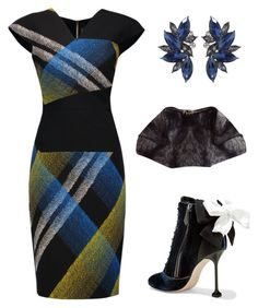 """""""Untitled #1654"""" by christawallace on Polyvore featuring Roland Mouret, Miu Miu and Alexander McQueen"""