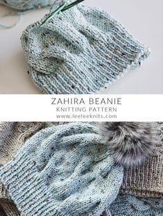 Beanie Knitting Patterns Free, Beanie Pattern Free, Knit Headband Pattern, Knitting Yarn, Free Knitting, Free Baby Knitting Patterns, Knitting Machine, Cable Knit Hat, How To Cable Knit