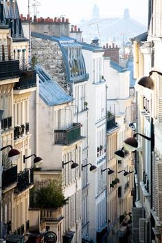 #Paris #Photography The romantic streets of Montmartre - 8x10 fine art photograph - soft blue and grey tones Paris, France - French Decor  via Shopmine, get product recommendations based on people you follow!