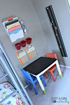 A Fun Kids' Craft Table Makeover by Just a Girl and Her Blog Might be useful for Vera's Christmas
