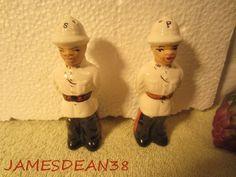 II 7 Nassau Bahamas Police Officer Soldier Salt Pepper Shakers s P Set | eBay