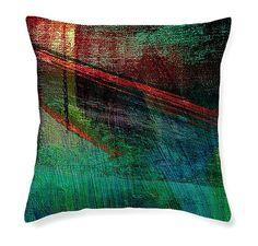 """Restoration"" design decorative pillow by Bonnie Bruno #decor #design #pillow #cushion #abstract #contemporary #modern"