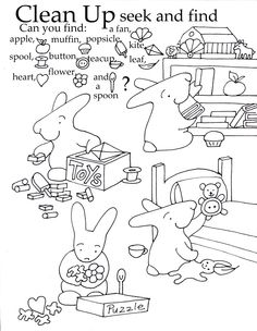 Free Preschool Printable. Learn to clean up while having fun!