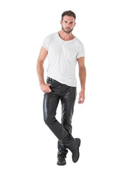 Men's leather pants men's fashion leather trousers, tight le 1950s Jacket Mens, Cargo Jacket Mens, Mens Leather Pants, Tight Leather Pants, Green Cargo Jacket, Bomber Jacket, Men's Leather, Leather Jackets, Jeans En Cuir