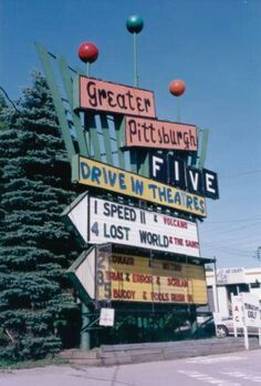 Greater Pittsburgh Five Drive In Movie Theater Diner Logo