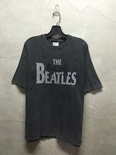 vintage t shirt 90s The Beatles faded black by imtryingtofocus