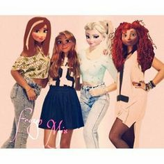 Royal Mix: Elsa, Anna, Raiponce, Mérida