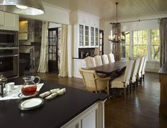 Read this before choosing a dining room table. Allow 42-48 inches between the table and wall (or other furniture) for diners to get in and out of their chairs easily.
