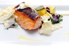 Challenge: Last Chance Kitchen - Break Down a Salmon, Portion 10 Identical Pieces, and Create 10 Composed Dishes<br />Chef: Kristen Kish<br /><br />Get the recipe!