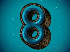 Gif Beautiful number ♥ Type Fight 8 by Nick Slater Number 8, Types Of Lettering, Galaxy Wallpaper, Typography Art, Letters And Numbers, I Fall In Love, Sea Shells, Trust, Safety