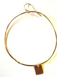 Zodiac hoop earring www.zahavah.com