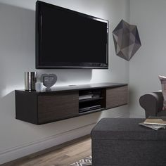 """Excellent """"tv wall mount ideas"""" info is offered on our website. Take a look and you wont be sorry you did. Diy Tv Wall Mount, Hanging Tv On Wall, Wall Mount Tv Stand, Wall Mounted Media Console, Tv Wand, Laminate Colours, Living Room Tv, Tv Unit, Adjustable Shelving"""