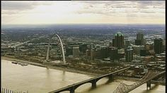 Beautiful view of the #STL skyline via SkyFOX helicopter