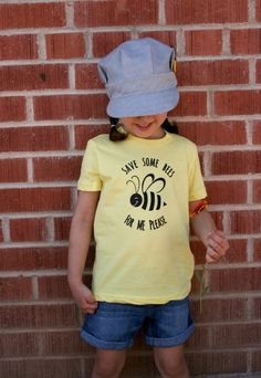 Save Some Bees For Me Please - Kids T shirt - Ready to ship    Help save the bees - A portion of each Bee Shirt sale will go towards bee