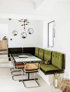 green velvet dining