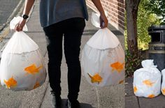 Gold Fish Trash Bags - That's Why I'm Broke | The coolest gadgets, electronics, geeky stuff, and more!