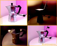 Our Mokalamp!  Don't trow your old moka, upcycle it!