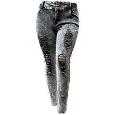 8298870e3203b Would love to try this wash of color SLS WOMENS PLUS SIZE Stretch Distressed  Ripped BLUE