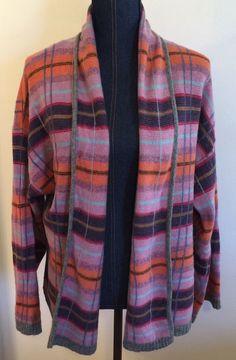 MODA International 100% Lambs Wool Open Cardigan Sweater Women's Size Small #ModaInternational #OpenFrontCardigan