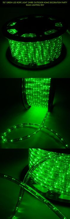 150' Green LED Rope Light 2Wire Outdoor Home Decoration Party Xmas Lighting 110V #drone #decor #gadgets #racing #outdoor #plans #led #products #camera #fpv #shopping #kit #technology #parts #lights #tech