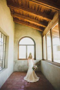 romantic white summer wedding dress - photo by Jason Hales Photography
