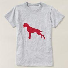 German Boxer Dog Center Modern T-Shirt - modern gifts cyo gift ideas personalize