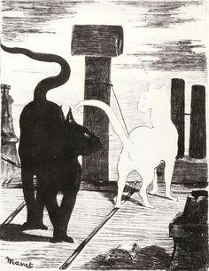 Manet, Rendez-vous de chats, 1868