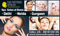 On the #festive #season get the spa and salon at home!! #TheNomadicSpalon now serving all over #NCR! why step out when you can have your #spa and #salon come home? Exciting prices & #offers! Call 8010135135 to book now !!   www.thenomadicspalon.com  #SpaAtHome