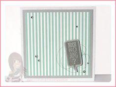 Stampin' Up! rosa Mädchen: Geburtstagskarte gestreift mit Sprechblasen Framelits und Ganz schön aufgeblasen