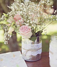 Lata de leite ninho na decoração de casamento pode? 7