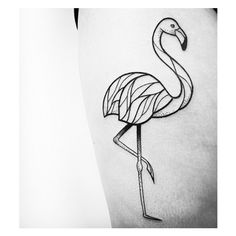 Love this flamingo tattoo