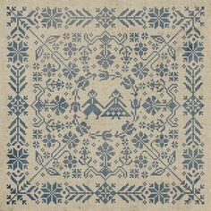 Swedish Folk Cushion Cross Stitch Pattern Instant by modernfolk, $8.50