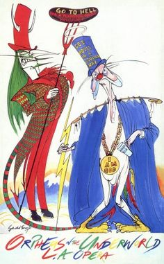 Los Angeles Opera - Orpheus in the Underworld - publicity poster © Gerald Scarfe