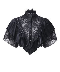 Nouveau produit : Satin black bolero with lace and embroidery romantic gothic Darkinlove Vous aimez ? / New product do you like ? Big Fashion, Dark Fashion, Fashion Outfits, Fashion Design, Ladies Fashion, Fashion Clothes, Fashion Trends, Style Lolita, Gothic Lolita