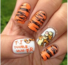 Now if this isn't motivation for me to grow out my nails i don't know what is. Now if this isn't motivation for me to grow out my nails i don't know what is. Love Nails, Fun Nails, Pretty Nails, Nail Manicure, Nail Polish, Disney Nails, Cute Nail Designs, Beautiful Nail Art, Creative Nails