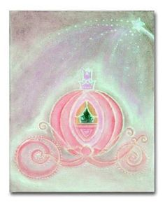 Princess Wall Art princess nursery art, castle, royal crown, cinderella shoe, mirror