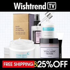Free Shipping + [WISH, TRY, LOVE] The Best Korean Pore Care Secret Kit