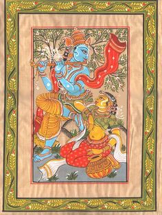 """Pattachitra- """"The only way you can conquer me is through love and there I am gladly conquered""""- RadheKrsna"""