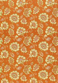 Alexa #print #fabric in #orange from the Jubilee collection. #Thibaut