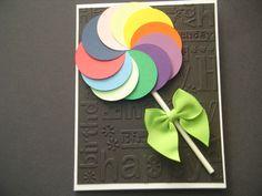 Lollipop Happy Birthday Card Kids Cards Birthday Card