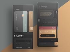 Nova Premium Wallet and Concierge Chat App by STFN on Dribbble Web Design, App Ui Design, Mobile App Design, User Interface Design, Mobile App Ui, Mobile Code, Design Layouts, Flat Design, Graphic Design